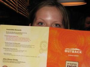 Emily at restaurant